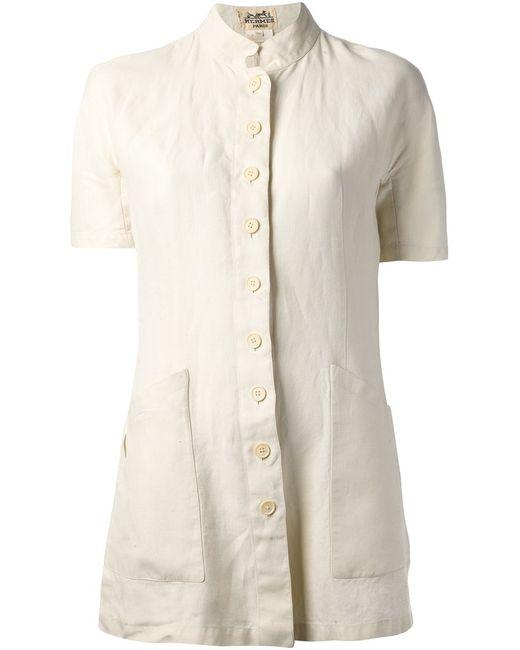 Hermès Vintage | Женская Nude & Neutrals Рубашка На Пуговицах