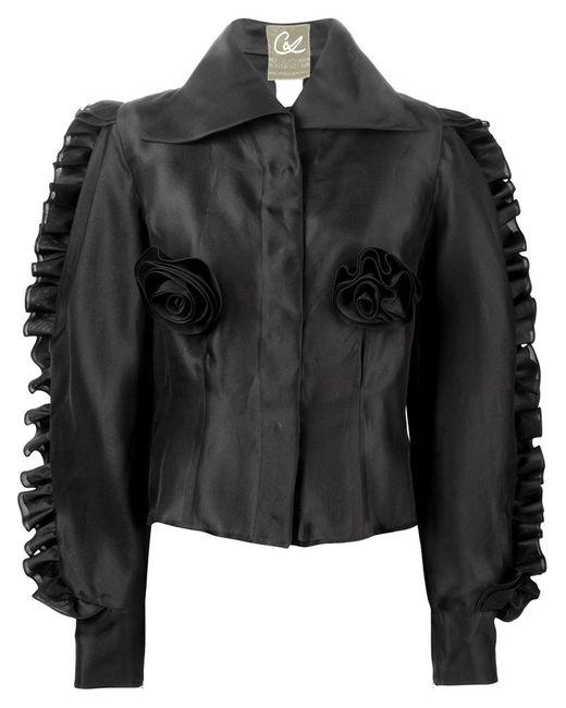 CHRISTIAN LACROIX VINTAGE | Женская Чёрная Рубашка С Рюшами