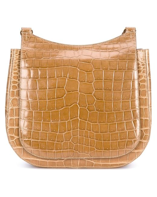 The Row | Женское Nude & Neutrals Warm Crocodile Leather Hunting Shoulder Bag From