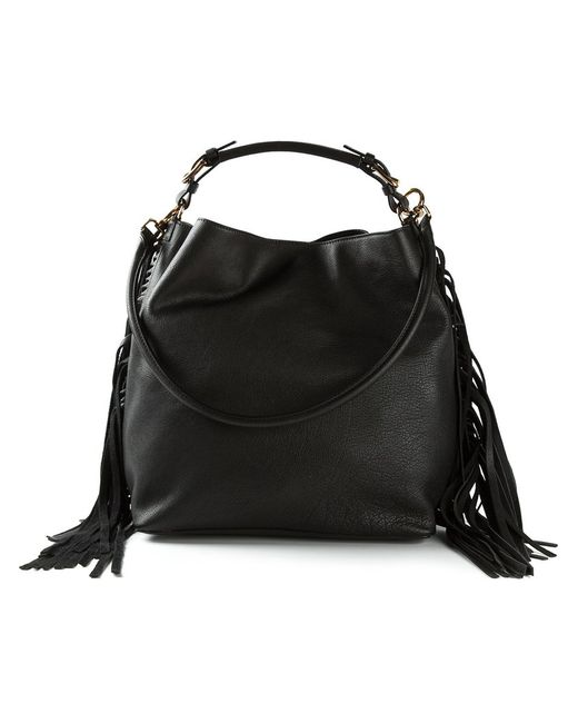 Marni | Женское Buffalo Leather Fringed Tote From Featuring A