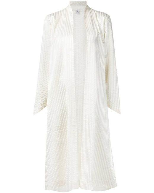 LIWAN | Женское Nude & Neutrals Nude Cotton Striped Open Front Coat From