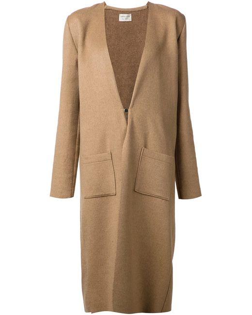 SABINE LUISE   Женское Коричневый Cashmere Unfinished Edges Coat From