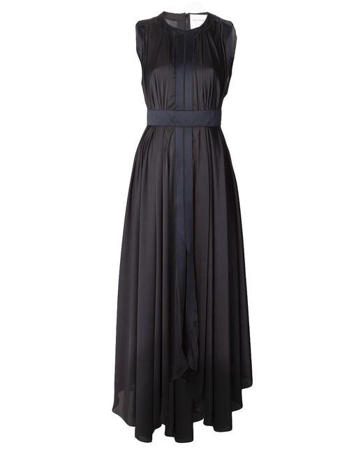 Maison Rabih Kayrouz | Женское Синий Navy And Cotton Blend Sleeveless Cinched Dress