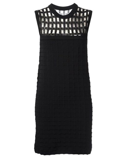 PIECE D ANARCHIVE | Женское Чёрное Хлопковое Платье Прямого Кроя