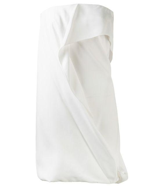 Maison Rabih Kayrouz | Женское Белое Креповое Платье-Бандо