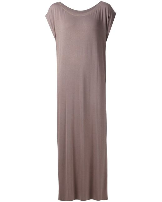 LIWAN | Женское Коричневое Длинное Платье С Разрезами По Бокам