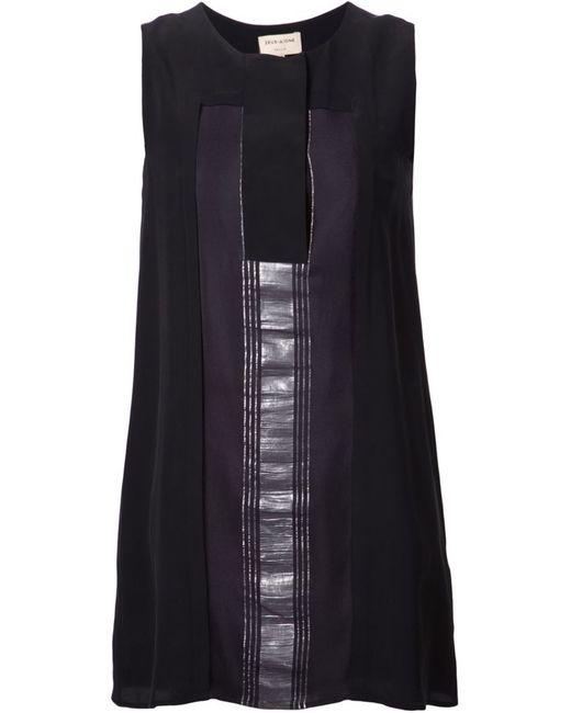ZEUS + DIONE | Женское Чёрное Платье Dilesi С Контрастной Панелью