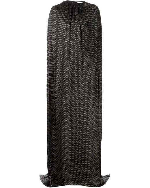 Maison Rabih Kayrouz   Женское Чёрное Струящееся Платье-Пончо