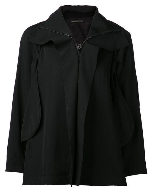 Yohji Yamamoto | Женское Чёрный Wool Oversized Jacket From Featuring A Foldover