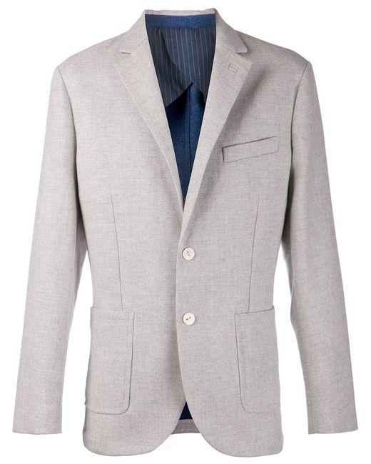 LORENZ BACH | Мужская Серая Классическая Куртка