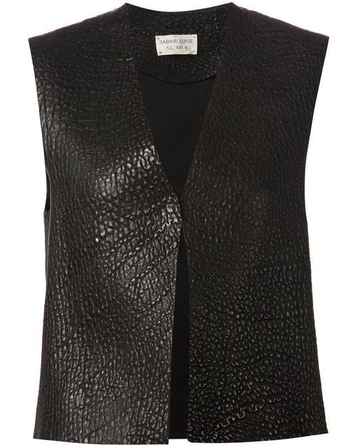 SABINE LUISE | Женское Чёрный Textured Waistcoat