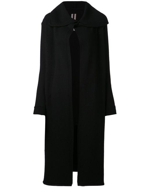 Rick Owens | Женское Чёрный Cashmere Knit Cardi-Coat From Featuring A Shawl