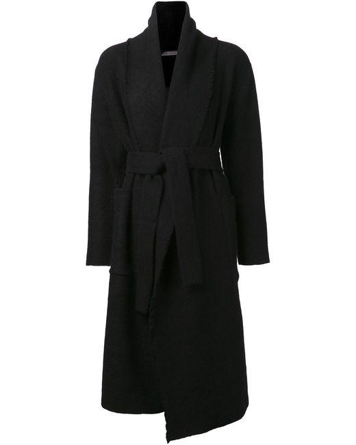 Denis Colomb | Женское Чёрное Пальто С Ремнём