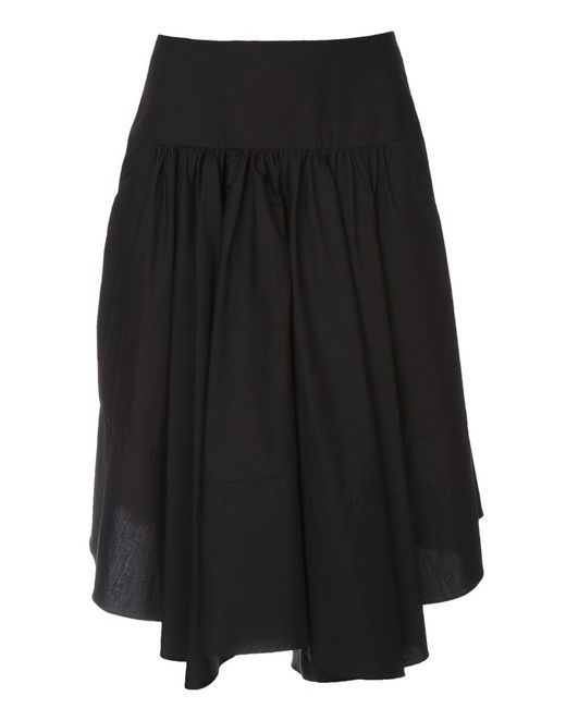 Co | Женская Чёрная Юбка Из Поплина