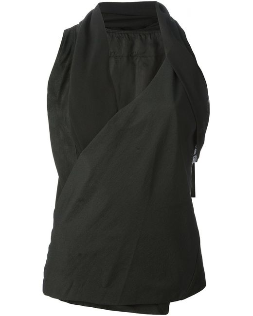 Rick Owens | Женское Silk And Leather Blouse From Featuring A