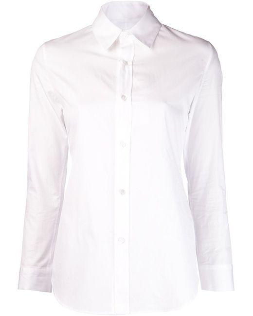 Yohji Yamamoto   Женское Белый Cotton Slim Fit Shirt From Featuring A