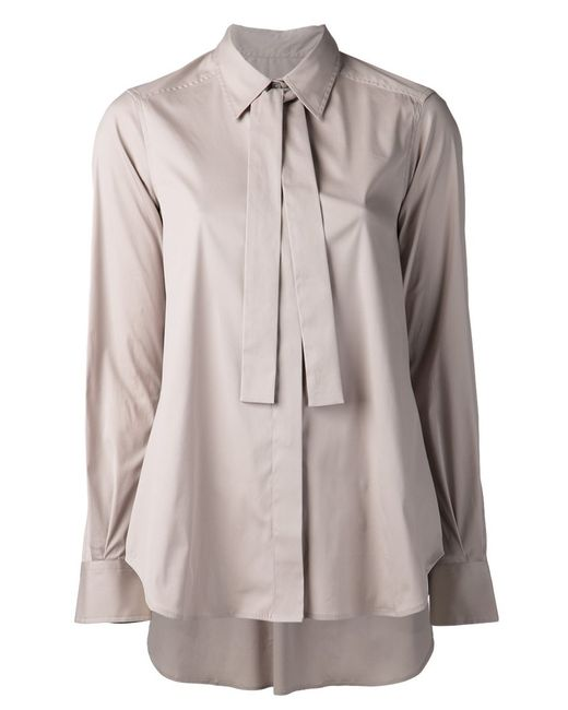 LAREIDA | Женское Nude & Neutrals Stone Cotton Blend Akito Shirt From Featuring