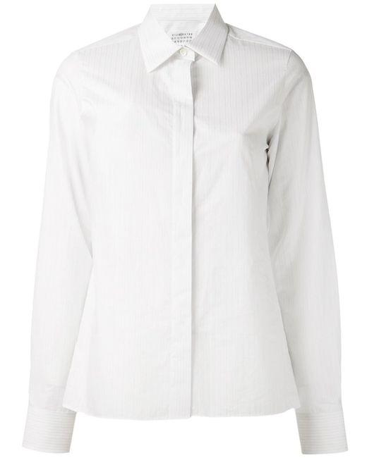Maison Margiela | Женская Белая Рубашка В Полоску