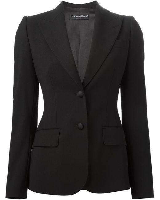 Dolce & Gabbana | Женский Чёрный Блейзер С Заостренными Лацканами