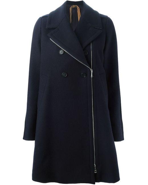 No21 | Женское Синее Двубортное Пальто