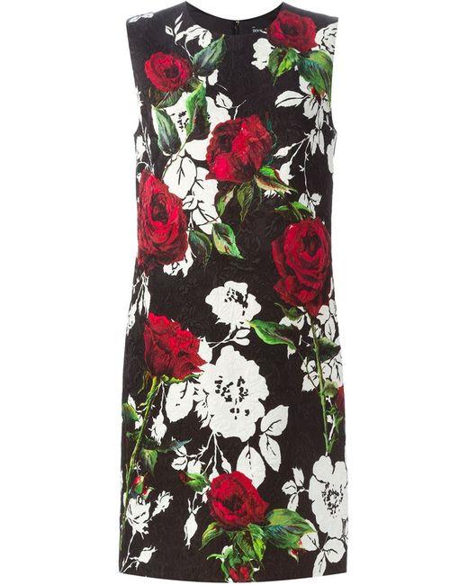 Dolce & Gabbana   Женское Чёрный Print Brocade Dress