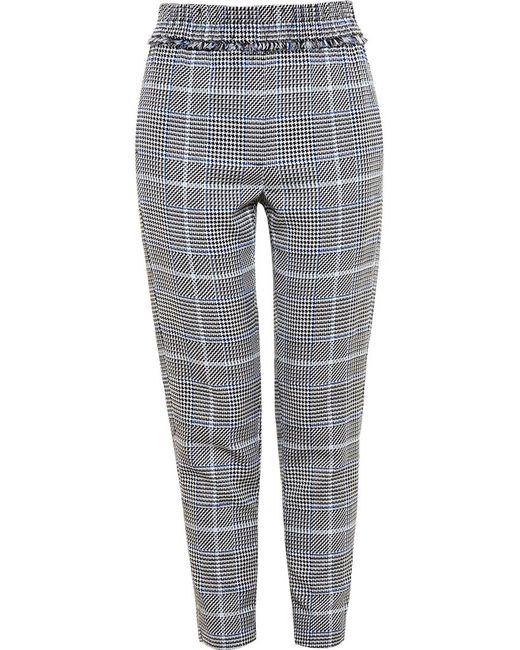 3.1 Phillip Lim | Женское Чёрный Checked Wool Trousers