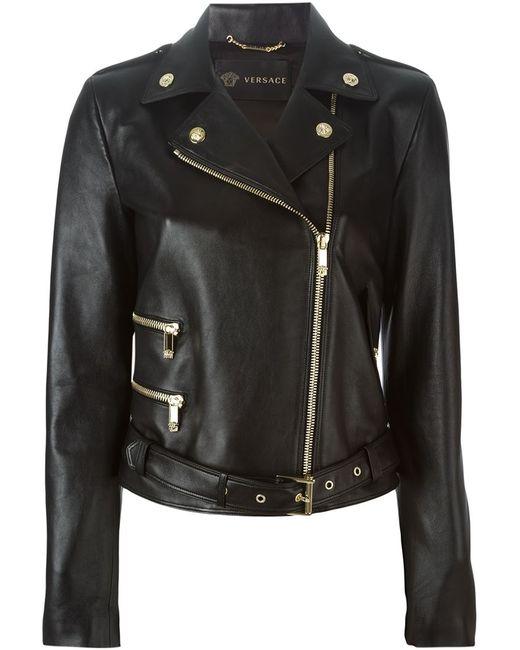 Versace   Женская Чёрная Байкерская Куртка