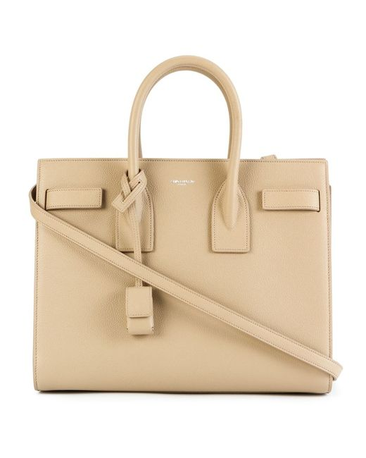 Saint Laurent | Женское Nude & Neutrals Medium Sac De Jour Tote