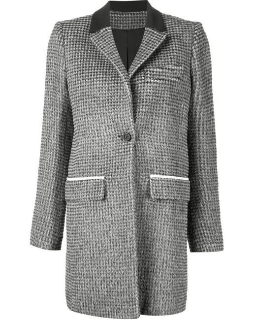 Paco Rabanne | Женское Чёрный And Alpaca-Wool Blend Houndstooth Coat From Featuring