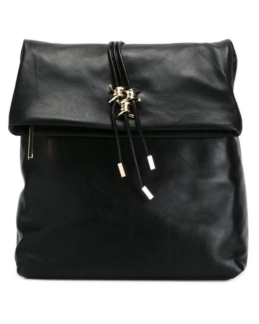 Dsquared2 | Женский Чёрный Рюкзак С Золотистыми Деталями