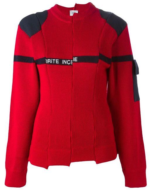 VETEMENTS | Женское Wool Blend Asymmetric Sweater From