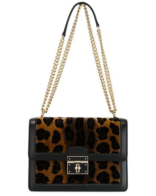 Dolce & Gabbana   Женская Чёрная Сумка На Плечо Rosalia