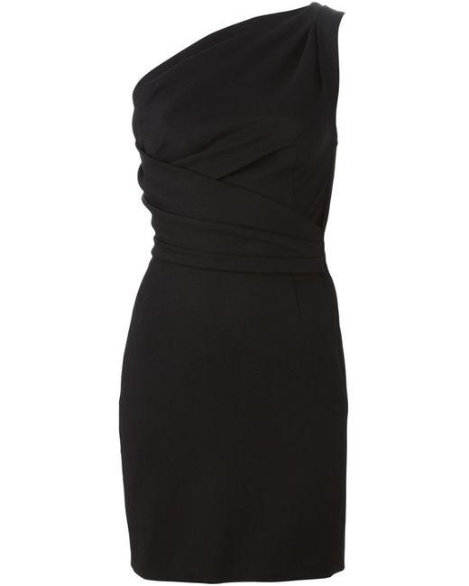 Dsquared2 | Женское Чёрное Драпированное Короткое Платье