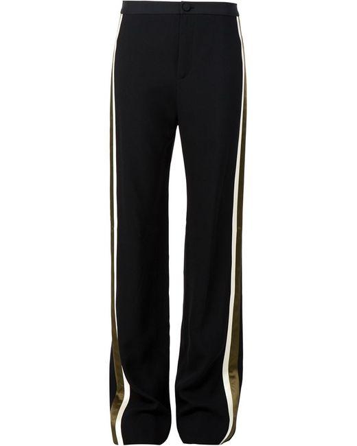 Bouchra Jarrar   Чёрный Contrast Stripe Slim Fit Trousers