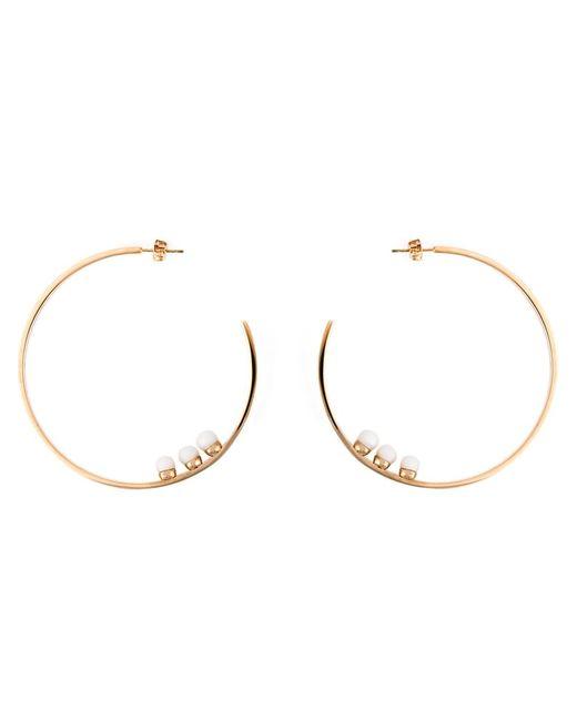 VITA FEDE   Женское Серебристый Tone Titanium Loop Earrings From Featuring A