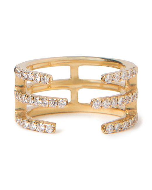 KHAI KHAI | Женское Желтый 18kt Linear Diamond Midi Ring From Featuring