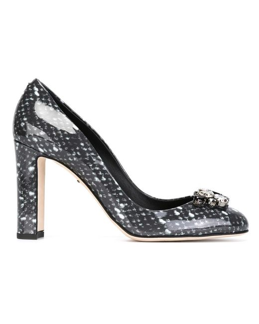 Dolce & Gabbana | Женские Серые Декорированные Лодочки