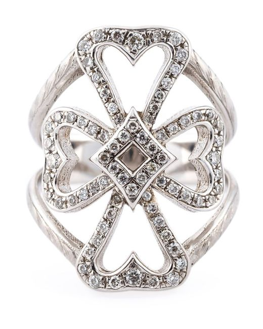 LOREE RODKIN | Женское Серебристый 18kt Diamond Maltese Cross Ring From Featuring