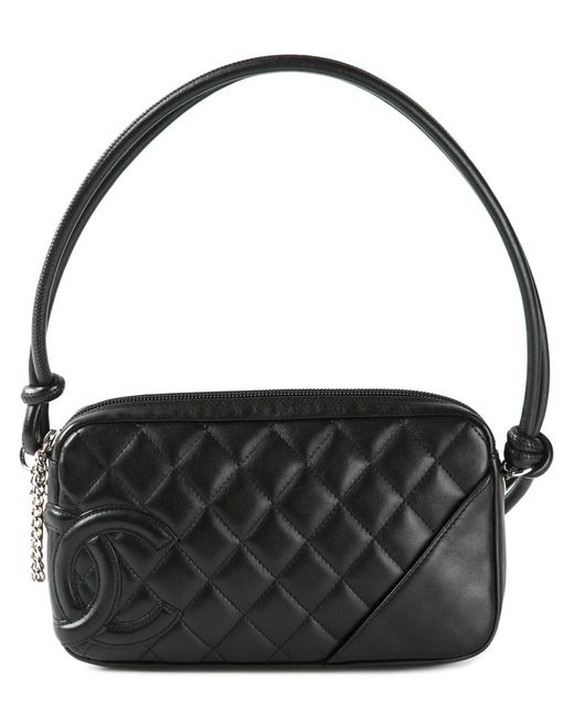Chanel Vintage | Женская Чёрная Стеганая Сумка