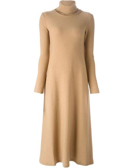 Forte Forte   Женское Nude & Neutrals Расклешенное Платье С Высоким Горлышком