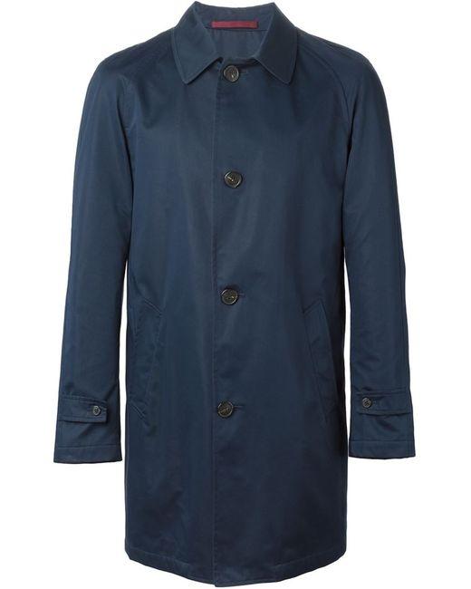 Corneliani | Мужское Синее Короткое Пальто
