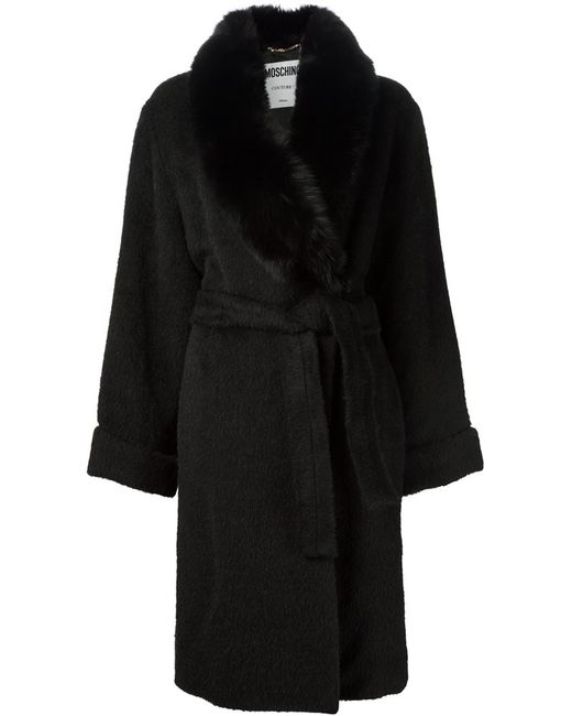Moschino | Женское Чёрный Virgin Wool-Alpaca-Mohair Blend Oversized Coat From Featuring