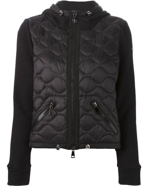 Moncler | Женская Чёрная Стеганая Куртка С Капюшоном