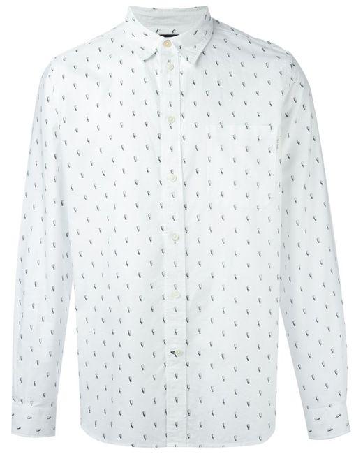 Paul Smith | Мужская Белая Рубашка С Мелким Принтом