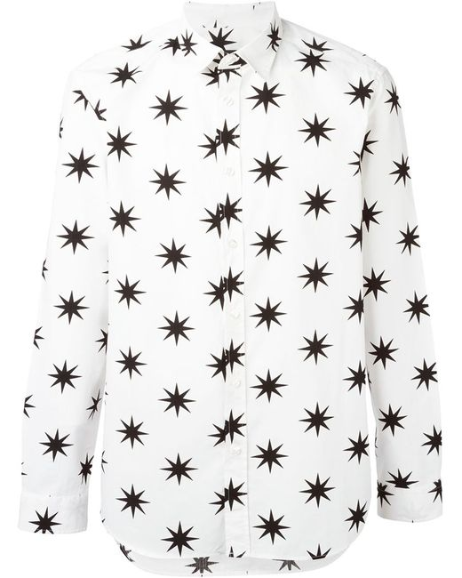 Love Moschino | Мужская Белая Рубашка С Принтом Звезд
