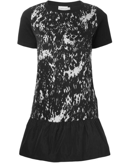 Moncler   Женское Чёрный Peplum T-Shirt