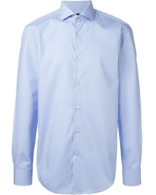 Hugo | Мужская Синяя Классическая Рубашка