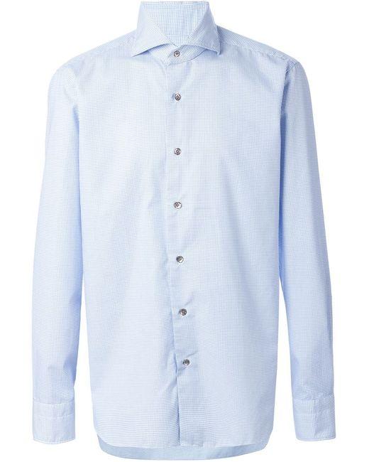 DANDYLIFE | Мужская Синяя Рубашка В Мелкую Точку