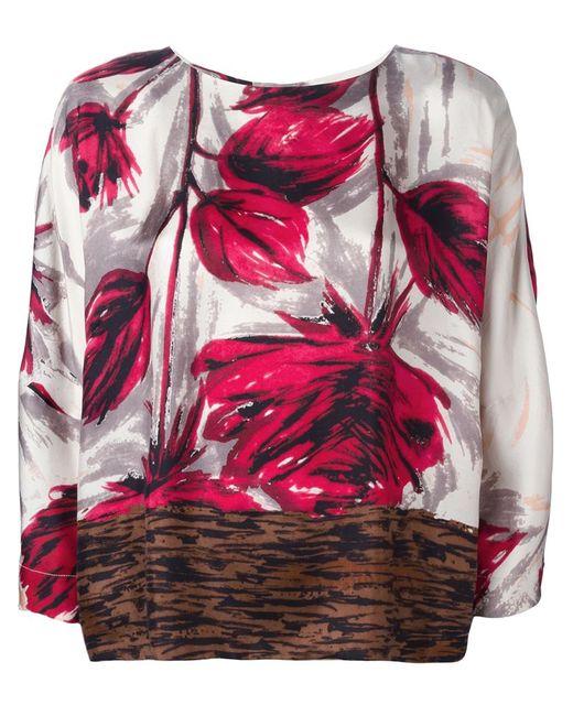 ERIKA CAVALLINI SEMICOUTURE | Женская Многоцветная Блузка С Принтом