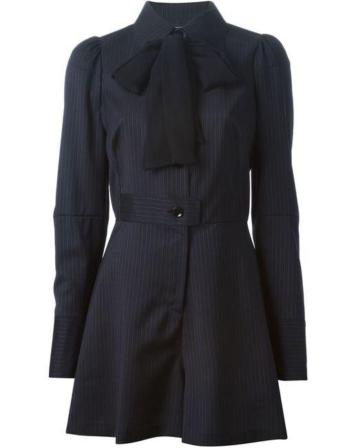Maison Margiela | Женское Чёрное Платье С Бантом